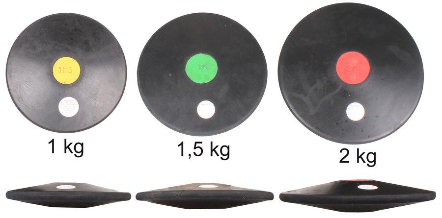 Gumový tréninkový atletický disk Merco - 1 kg