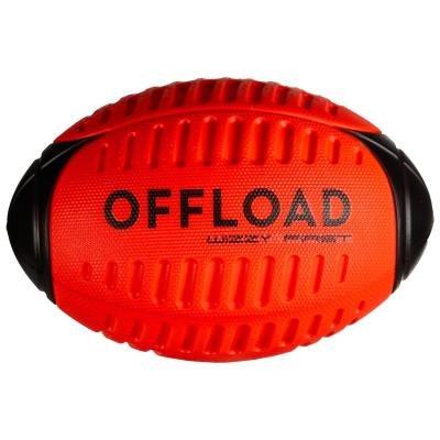 Červený míč na ragby WIZZY, Offload - velikost 3