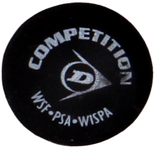 "Černý míček na squash ""žlutá tečka"" Dunlop - 1 ks"