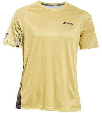 Žluté pánské tričko s krátkým rukávem Babolat - velikost M