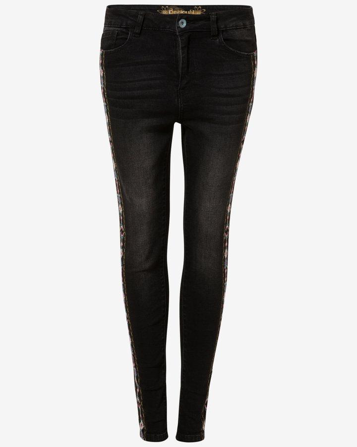 Černé dámské džíny Desigual