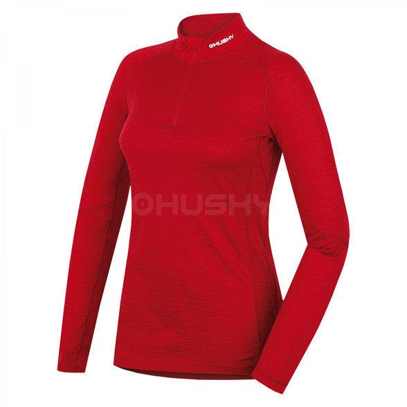 Červené dámské funkční tričko s dlouhým rukávem Husky