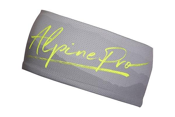 Šedá běžecká čelenka Alpine Pro
