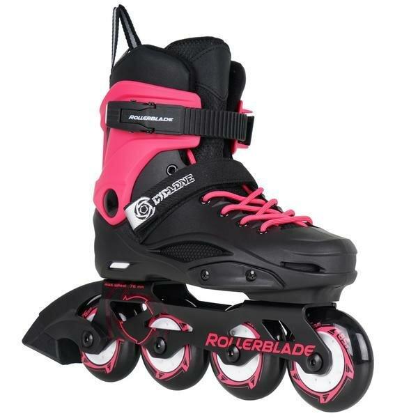 Černo-růžové dětské kolečkové brusle Rollerblade - velikost 31-33 EU