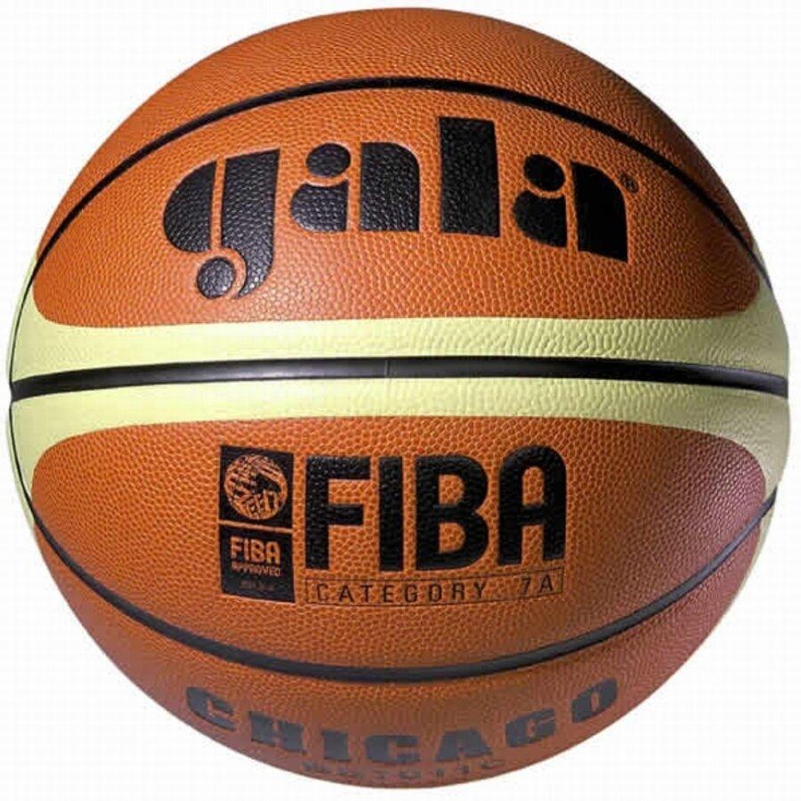 Oranžovo-žlutý basketbalový míč Chicago, Gala - velikost 6