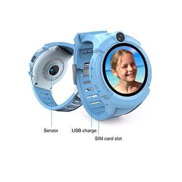 Modré chytré hodinky Guard Kid+, Carneo