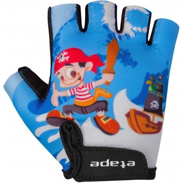 Modré dětské cyklistické rukavice Etape