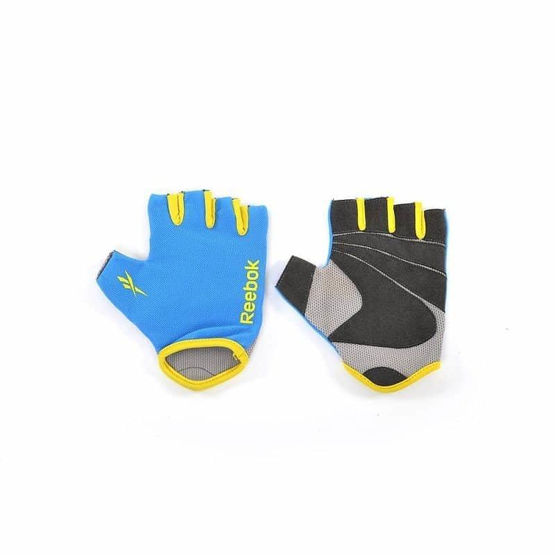 Modré fitness rukavice Reebok - velikost S