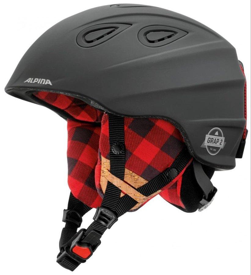 Černá dámská lyžařská helma Alpina Sports