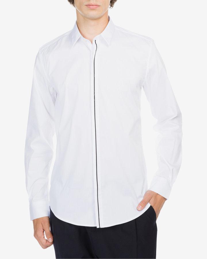 Bílá pánská košile s dlouhým rukávem Antony Morato