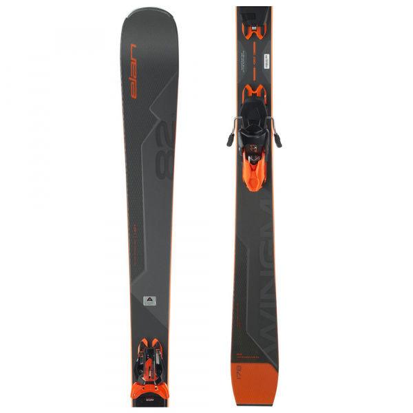 Šedé lyže s vázáním Elan