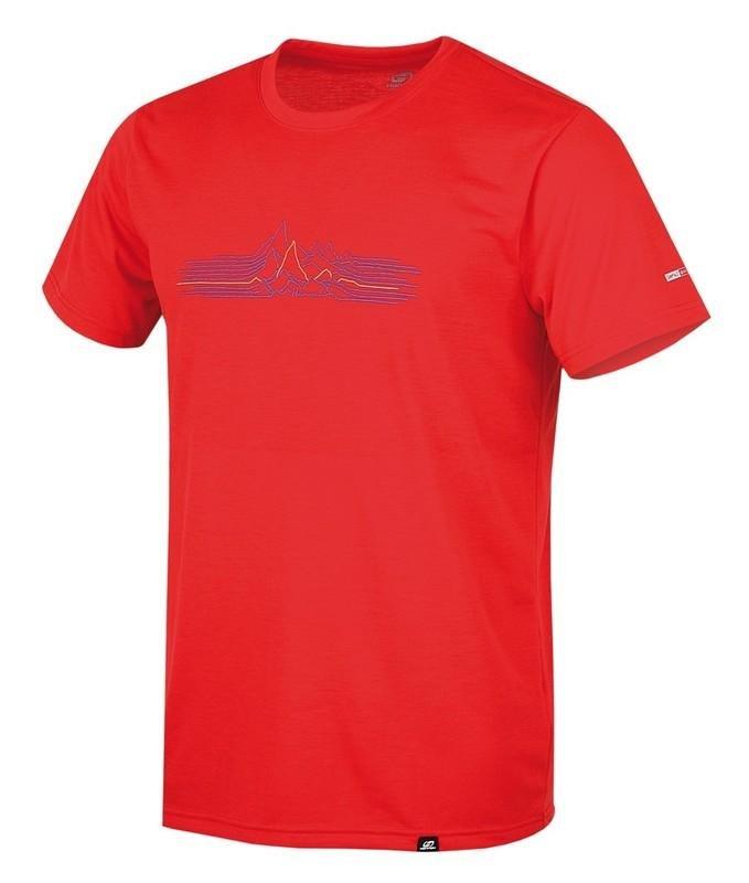 Červené pánské tričko s krátkým rukávem Hannah - velikost S