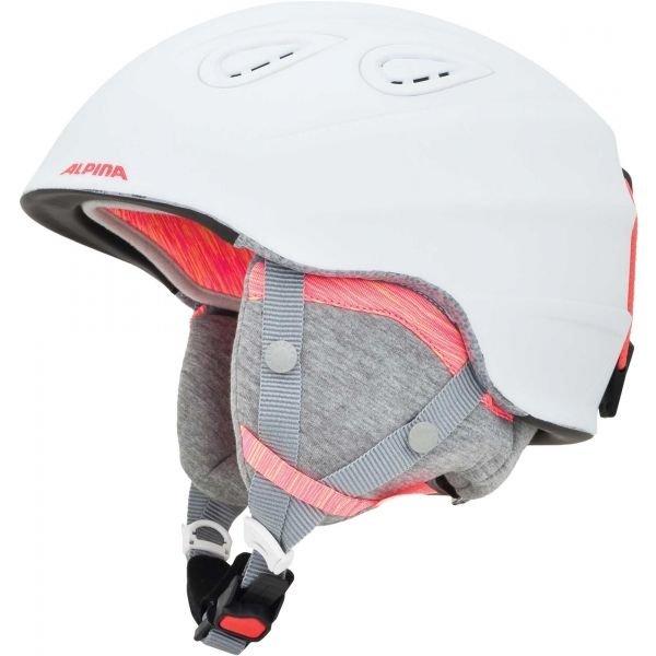 Bílá lyžařská helma Alpina