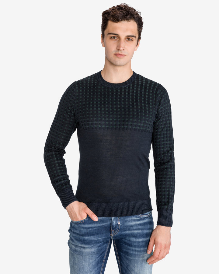 Modrý pánský svetr Antony Morato