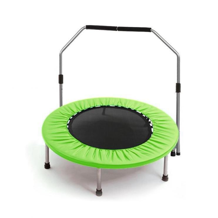 Kruhová fitness trampolína s madlem Sedco - průměr 137 cm