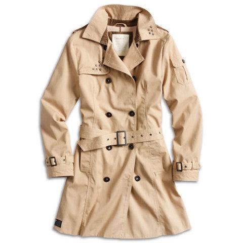 Kabát - Doprodej Kabát TRENCHCOAT dámský KHAKI
