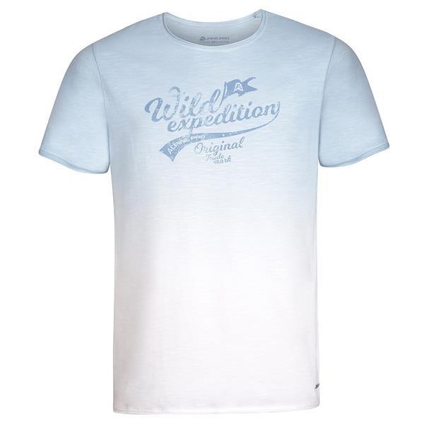 Černé pánské turistické tričko s krátkým rukávem Alpine Pro - velikost XS