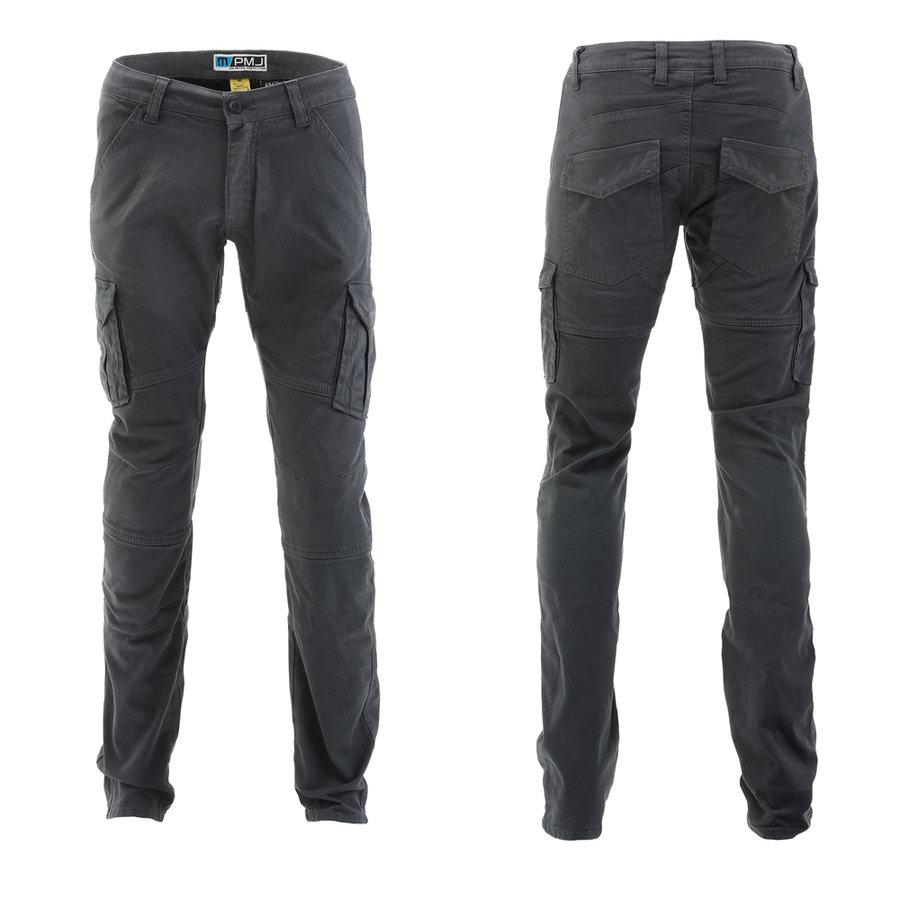 Šedé pánské motorkářské kalhoty Santiago, PMJ Promo Jeans