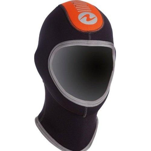 Černo-oranžová neoprenová kukla Dive, Haubna - velikost S