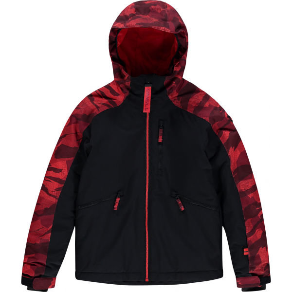 Černo-červená chlapecká lyžařská bunda O'Neill