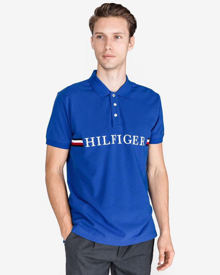 Modrá pánská polokošile s krátkým rukávem Tommy Hilfiger