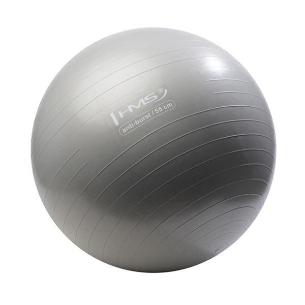 Šedý gymnastický míč ANTI-BURST, HMS - průměr 55  cm