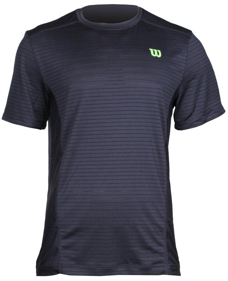Černé pánské tenisové tričko Wilson - velikost L