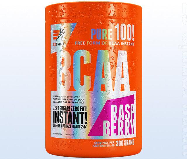 """BCAA Extrifit """"malina"""" - 300 g"""