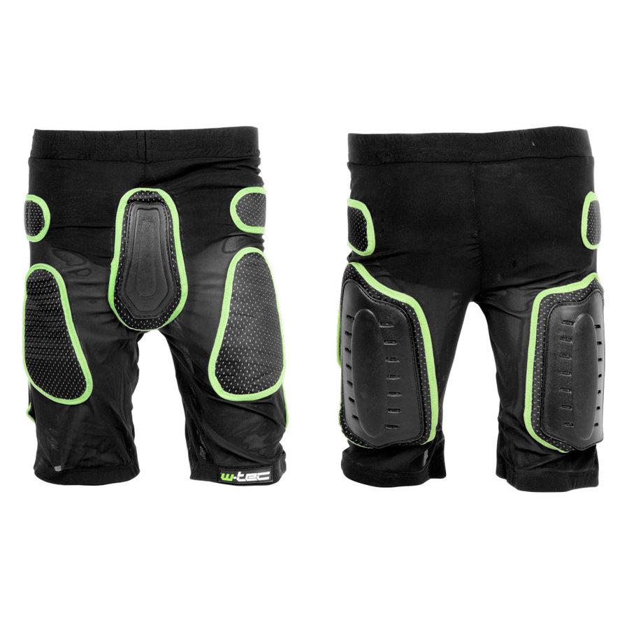 Černo-zelené motorkářské kraťasy Xator, W-TEC