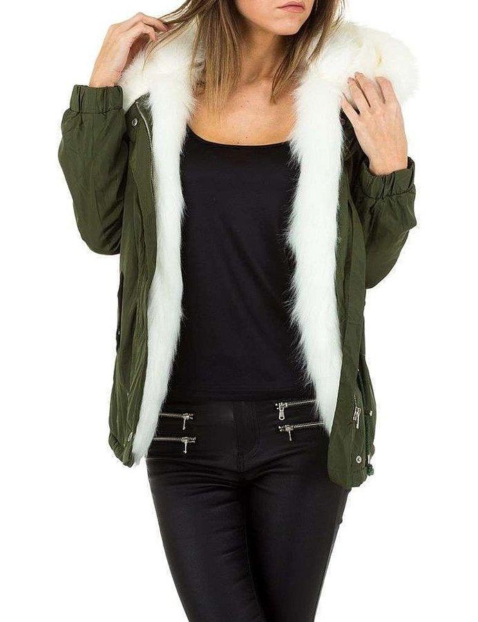 Zelená zimní dámská bunda - velikost L