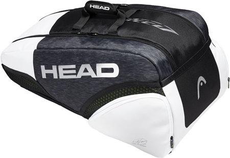 Bílo-černá tenisová taška Djokovic 9R, Head