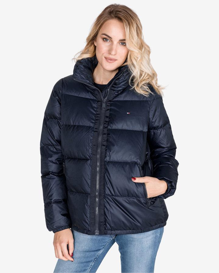 Modrá zimní dámská bunda Tommy Hilfiger - velikost S
