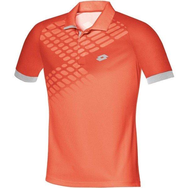 Oranžové pánské tenisové tričko Lotto - velikost S
