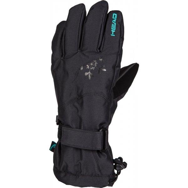 Černé dámské lyžařské rukavice Head - velikost L