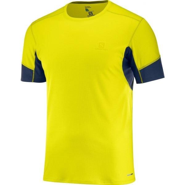 Žluté pánské běžecké tričko Salomon