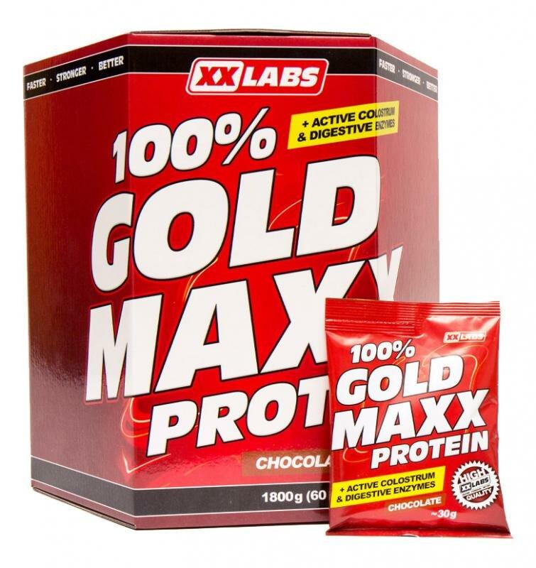 Pedály na kolo - Xxlabs 100% Gold Maxx protein 1800 g - mix