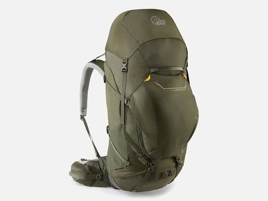 Zelený turistický batoh Lowe Alpine - objem 85 l