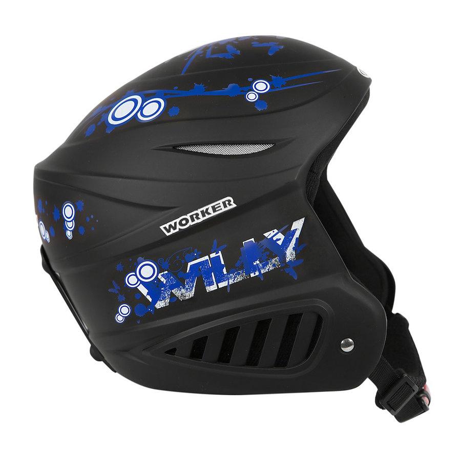 Černá lyžařská helma Worker - velikost 48-50 cm