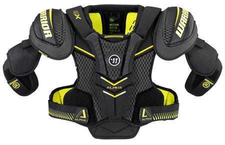 Černý hokejový chránič ramen - junior Warrior - velikost S