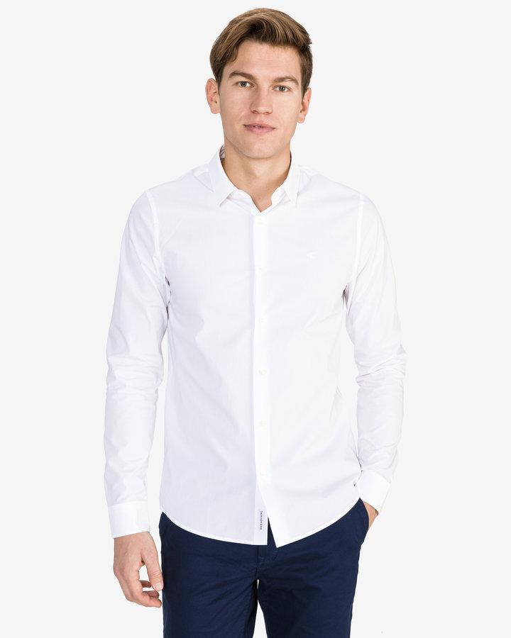 Bílá pánská košile s dlouhým rukávem Calvin Klein - velikost XXL