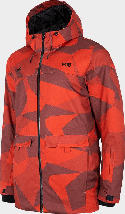 Červená pánská snowboardová bunda 4F