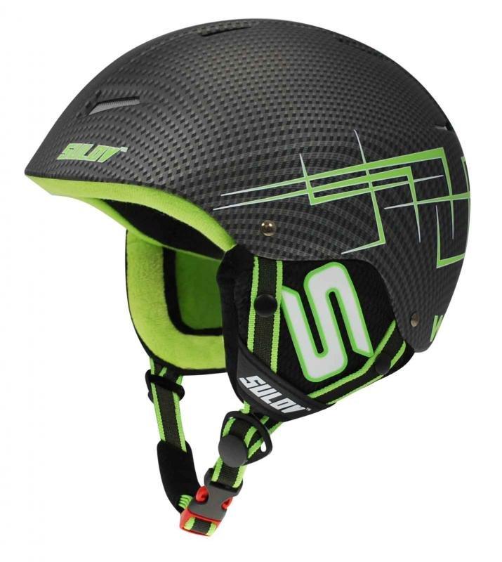 Zelená lyžařská helma Sulov - velikost L