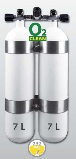 Potápěčská tlaková láhev Eurocylinder - objem 7 l