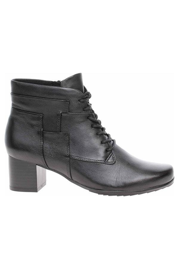 Černé dámské kotníkové boty Caprice