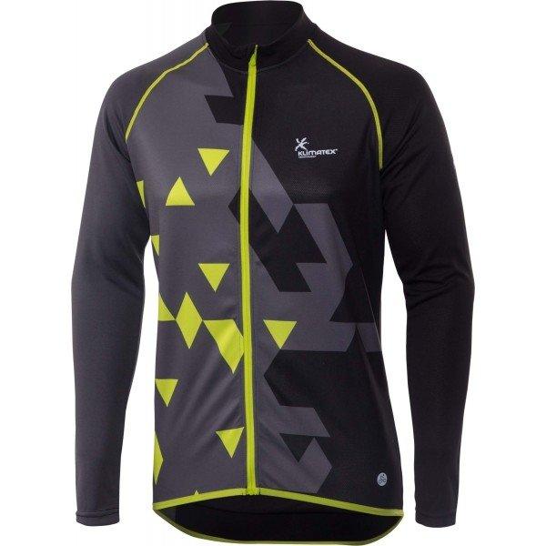 Černo-šedý pánský cyklistický dres Klimatex - velikost M