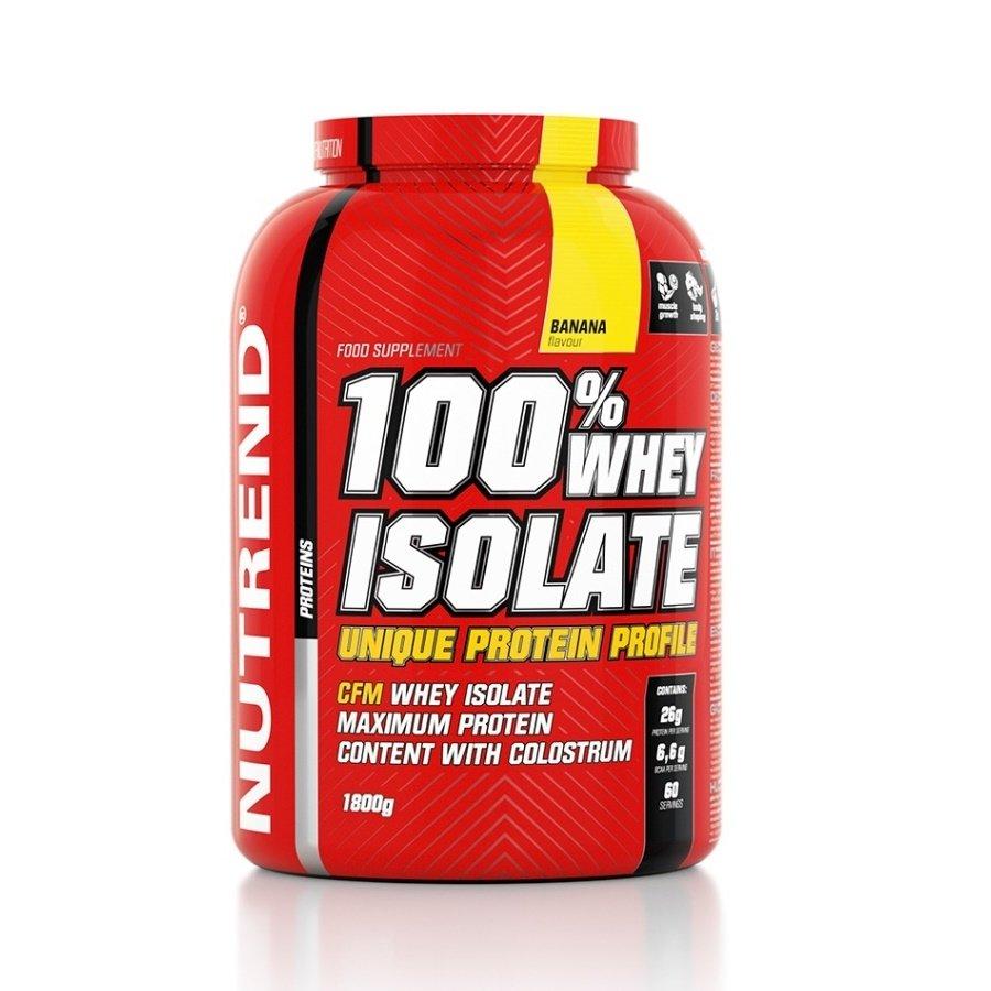 """Syrovátkový protein 100% WHEY Isolate, Nutrend """"banán"""" - 1800 g"""