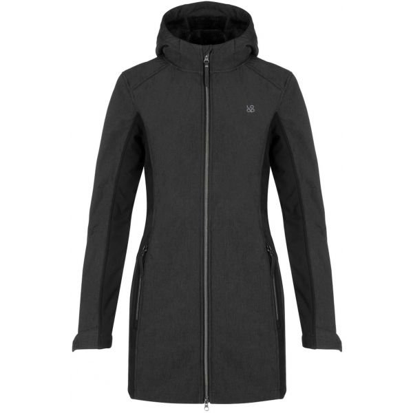Černý dámský kabát Loap