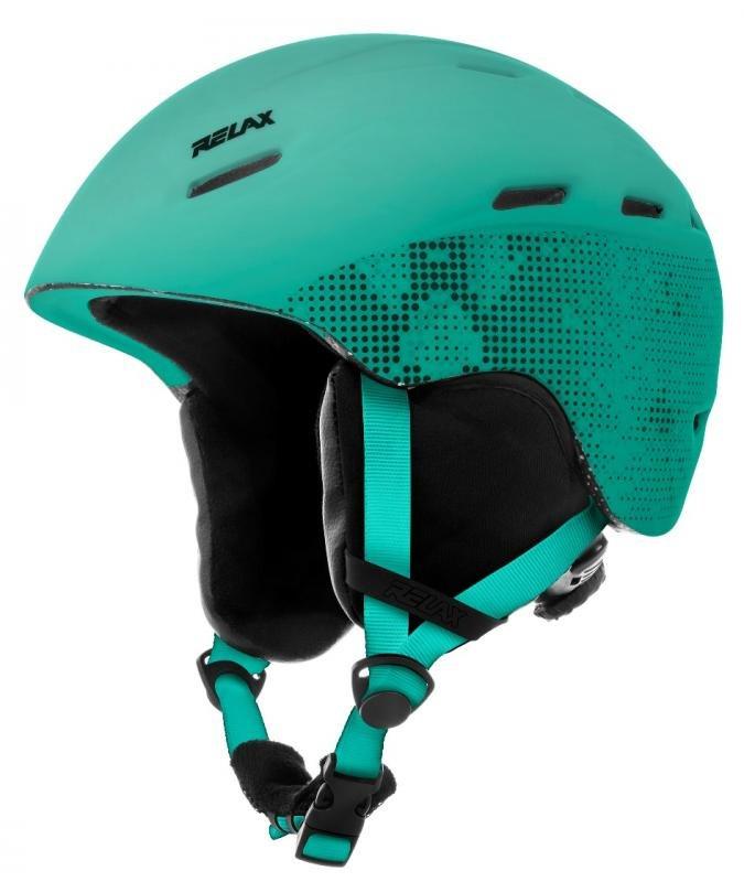 Zelená lyžařská helma Relax - velikost 56-58 cm