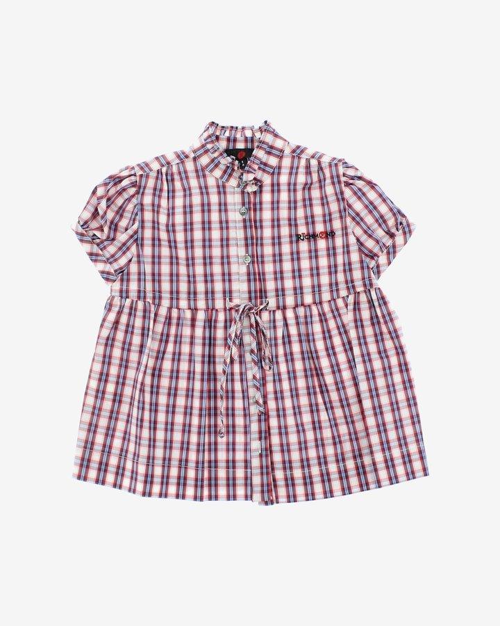 Bílo-červená dívčí košile s krátkým rukávem John Richmond - velikost 116