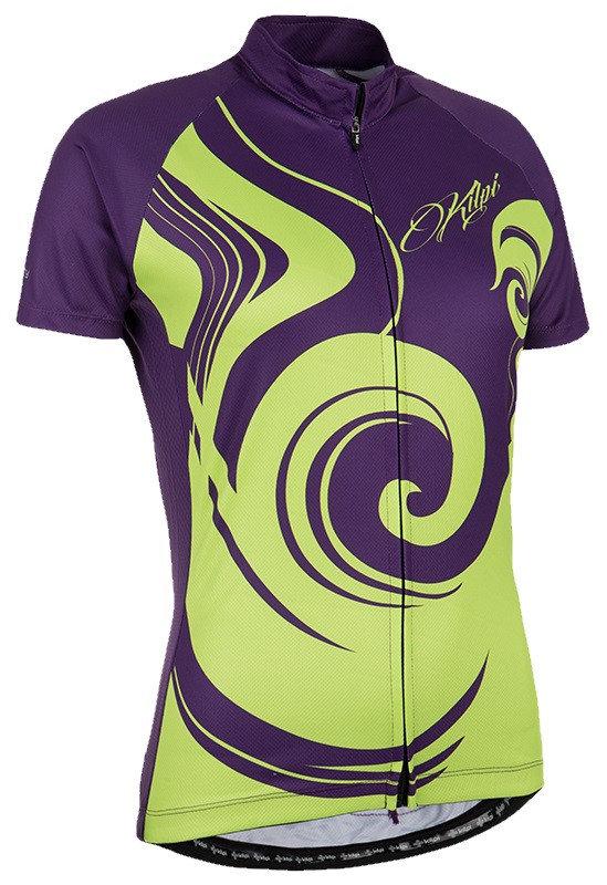 Fialový dámský cyklistický dres Kilpi - velikost XS